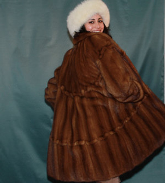Full Skin Mink Design Coat
