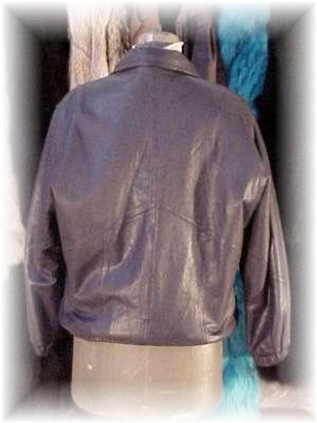 Fully Reversible Leather Jacket with Sheared Fur Rabbit Lining