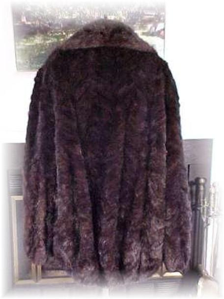 Sectional Mink Fur Bomber Jacket