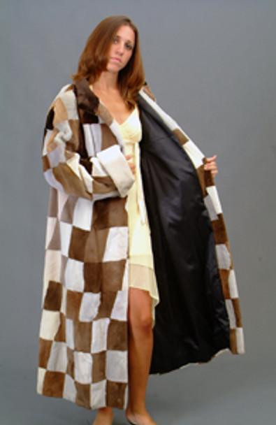 Vintage Multi Mink Long Coat