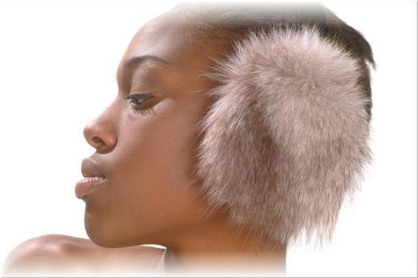 Indigo Fox Fur Earmuffs