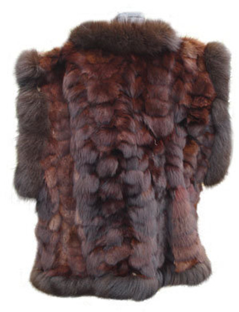 Brown Fox Vest with Fox Trimming