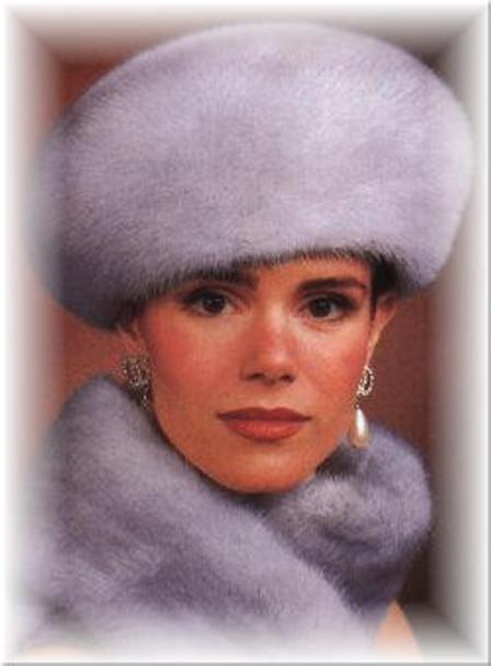 Mink Large Fur Beret Hat