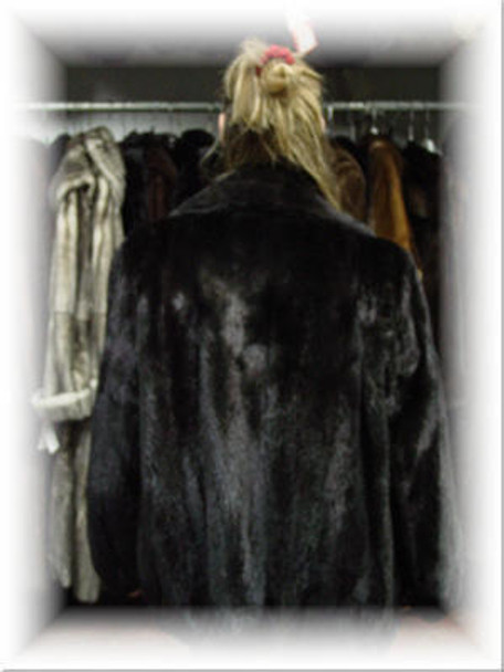 Full Skin Mink Bomber Fur Jacket