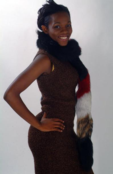 Multi Color Fox Fur Ladies Scarf