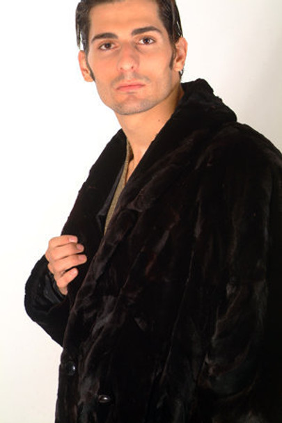 Sheared Mink Fur Long Coat 1