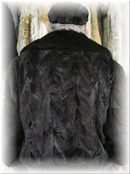 Sheared Mink Bomber Fur Jacket