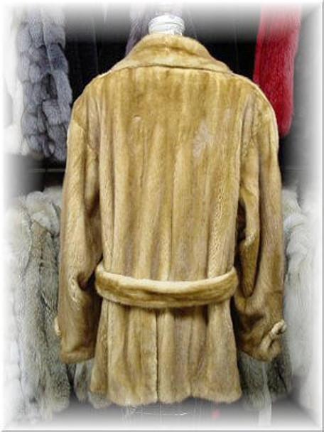 Full Skin Whiskey Mink Fur Jacket