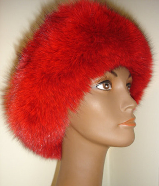 Red Fox Full Skin With Mink on Top
