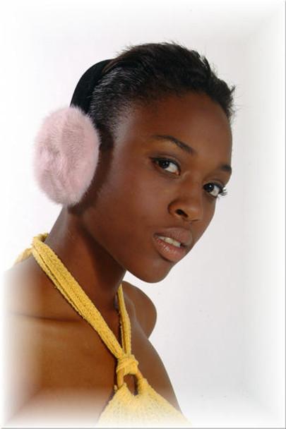 Pink Mink Fur Earmuffs