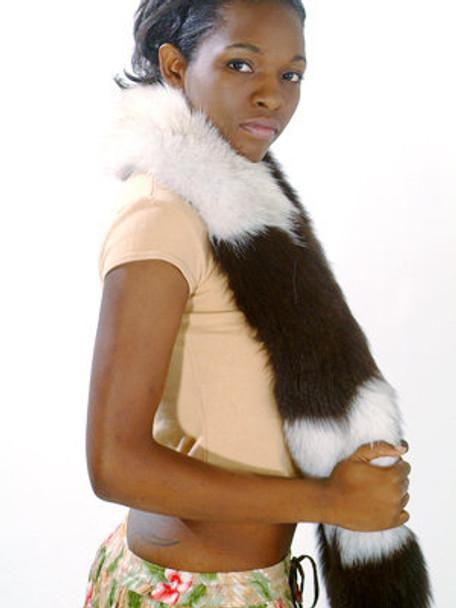 Multicolor Fox Fur Women's Scarf