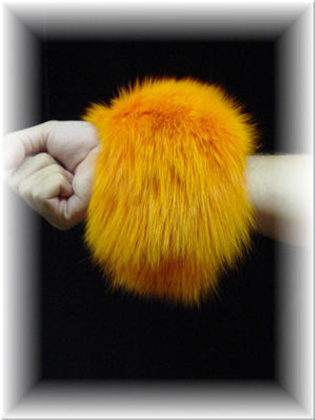 Dyed Canary Full Skin Fox Fur Cuffs