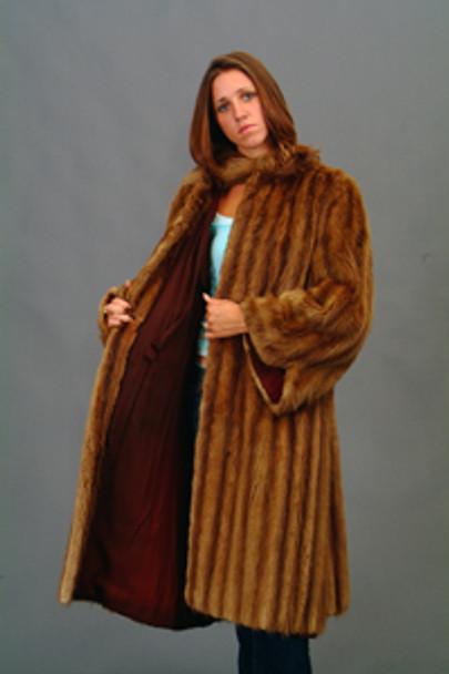 Vintage Fur Mink Full Skin Coat
