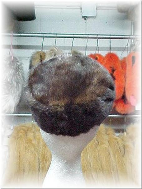 Full Skin Mahogany Mink Fur Cap