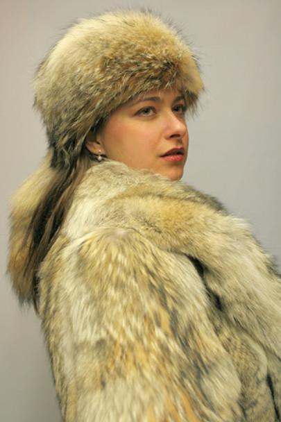 Coyote Fur Full Skin Coat