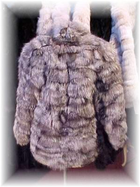 Sectional Silver Fox Fur Jacket