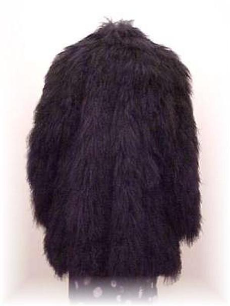 Black Curly Lamb Fur Jacket