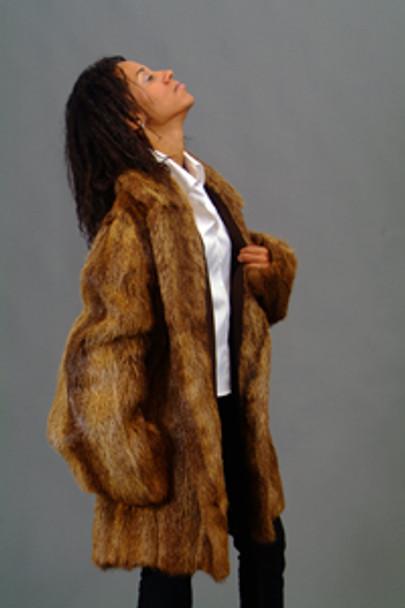 Nutria Full Pelt Fur Coat