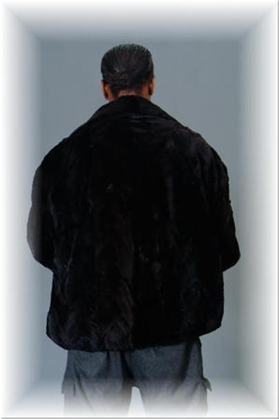 Sheared Mink Bomber Fur Jacket w/ Sheared Collar