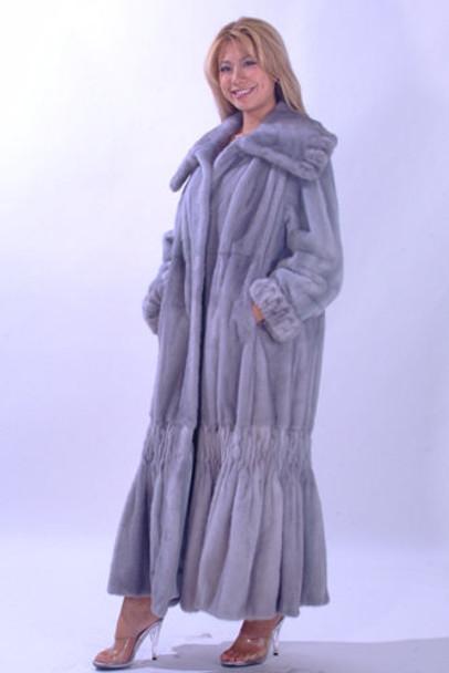 Blue Iris / Azurine Mink Coat