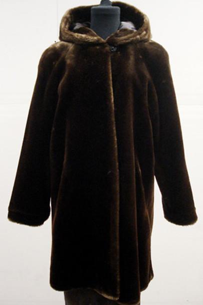 Faux Brown Beaver Jacket