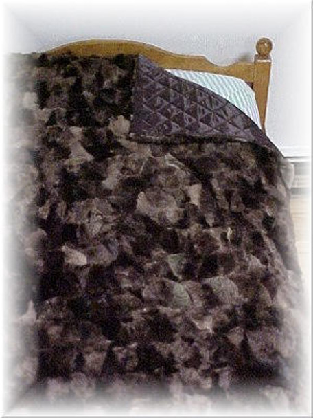 Multicolored Sheared Beaver Fur Blanket