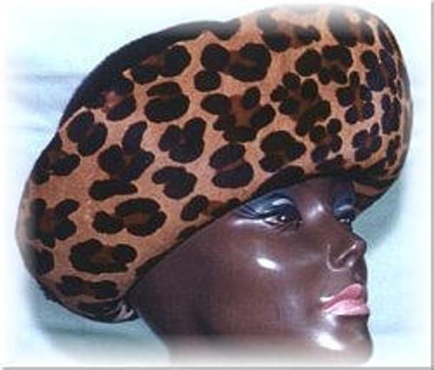 Stencilled Leopard Print Hat