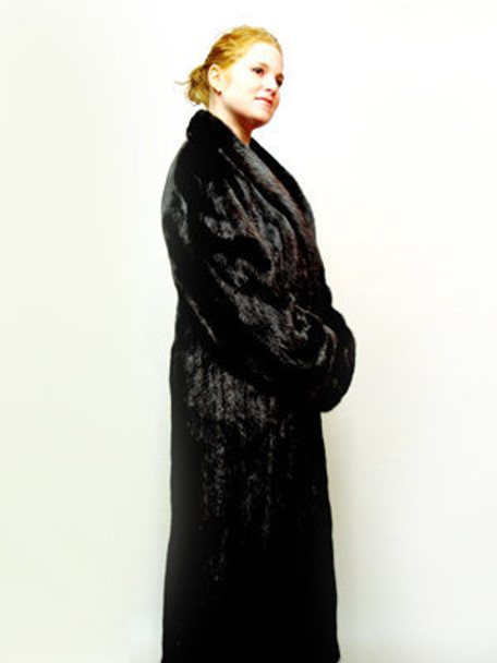 Mahogany Mink Fur Coat 9