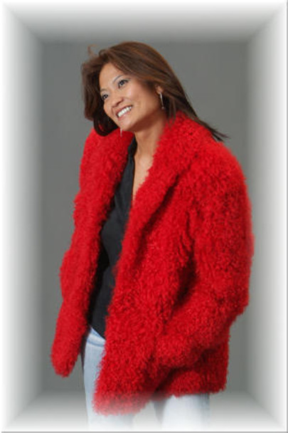 Red Persian Lamb Fur Jacket