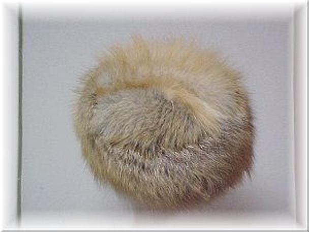 Full Skin Golden Island Fox Fur Hat