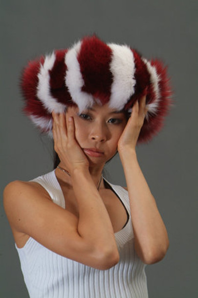 Multi Color Fox Fur Headband 3
