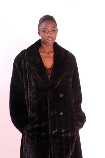 Black Full Pelt Mink Fur Coat