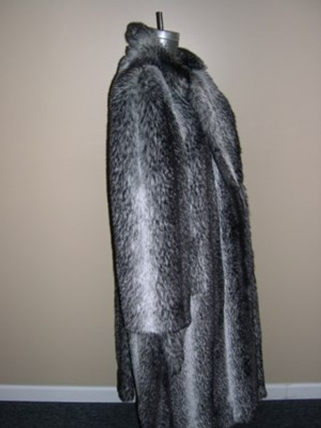Natural Faux Coyote Long Coat