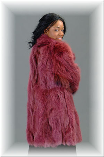 Burgundy Fox Fur Jacket