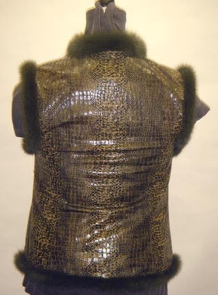 Mink Vest with Snake Design