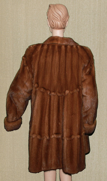 Mahogany Mink 3/4 Full Pelt Coat Design Pattern