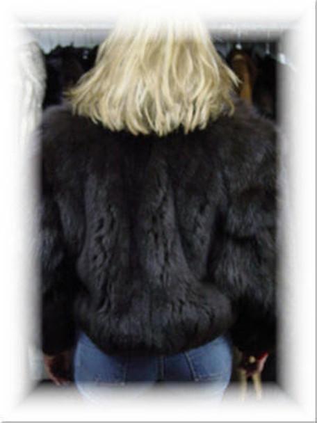Full Skin Black Fox Bolero Fur Jacket 1
