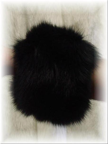 Dyed Black Fur Cuffs