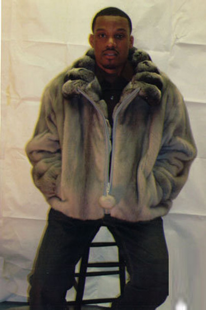 Mens Mink Full Pelt Bomber Fur Jacket 1