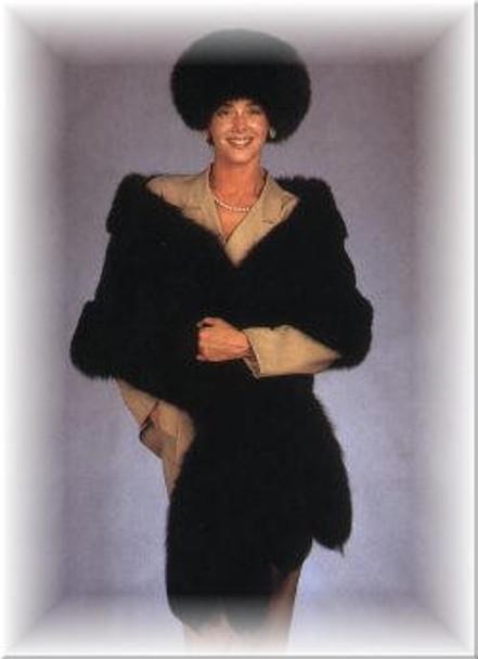 Large Fox Beret Fur Hat