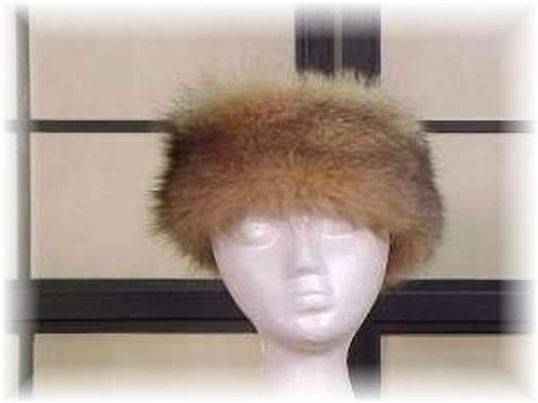 Crystal Fox Full Skin Fur Head Wrap 1
