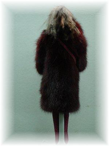 Doll's Pink Mink Fur Coat