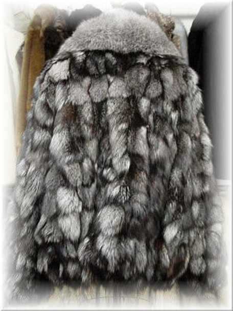 Silver Fox Bomber Fur Jacket