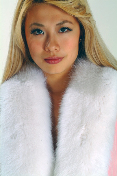 White Fox Fur Pelt Scarf