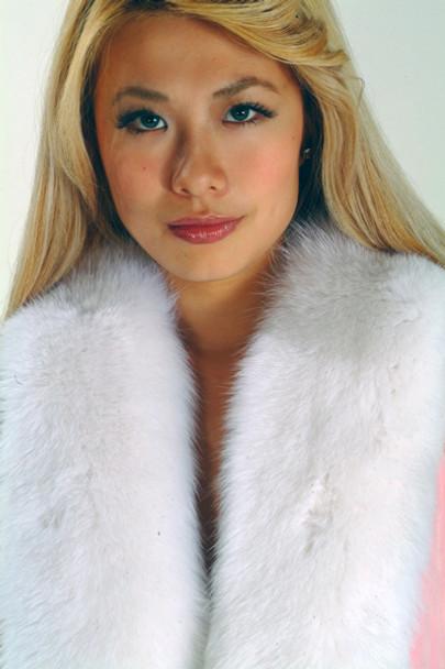 White Fox Fur Pelt Scarf