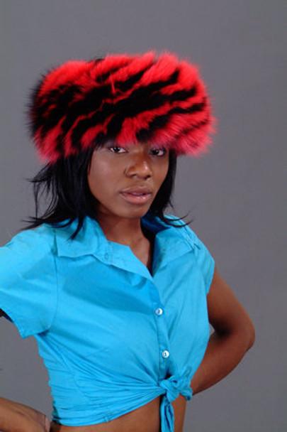 Multicolor Fox Fur Headband 1