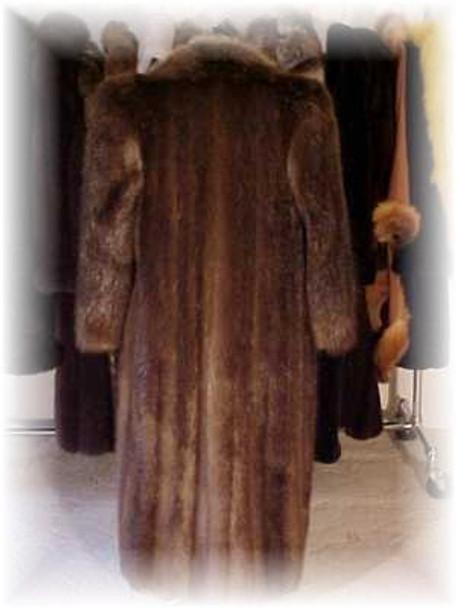 Classic Style Longhair Beaver Fur Coat