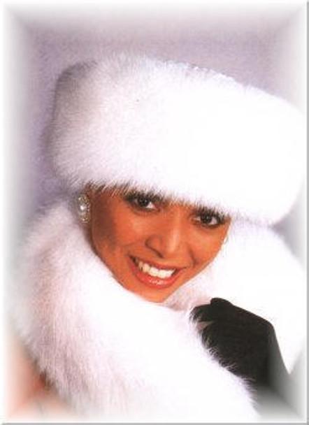 Knit Cuff Shadow Fox Fur Hat