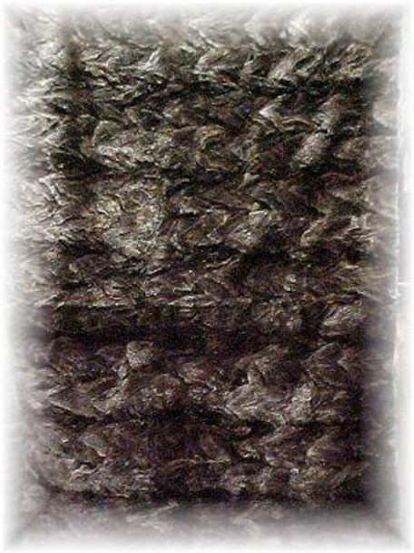 Natural Sheared Beaver Design Fur Blanket