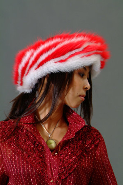 Multi Color Fox Fur Headwrap